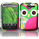 For Pantech Renue P6030 (AT&T) Rubberized Design Cover - Owl Design