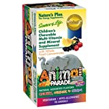 Natures Plus Animal Parade Children's Chewable Multi - Assorted Flavors - 90 Chewable Tablets