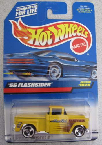 Hot Wheels 1998 '56 Flashsider Truck Yellow #1028 Hot Rod Handyman