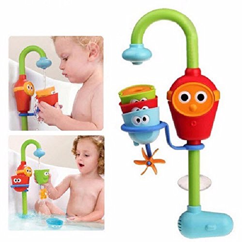 2016 Hot Multicolor Fun Baby bath toys automatic spout play taps/buttressed folding spray showers toy faucet play with water (Track Magic Cleaner compare prices)