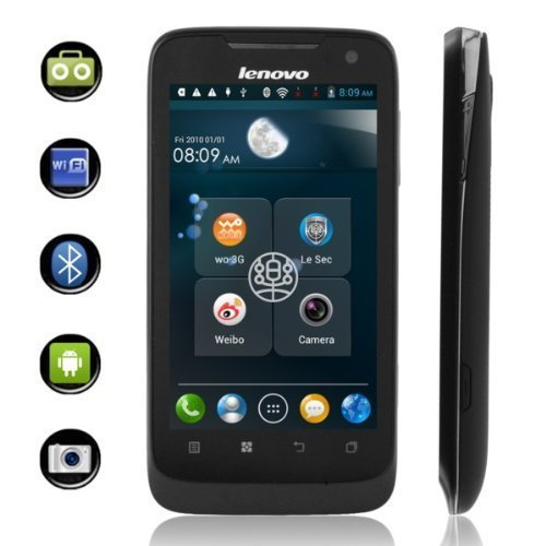 Lenovo A789 MTK 6577 Android 4.0 3G Smartphone Dual Sim Card Dual Standby Quad Band with 4 ' Touch Screen and WiFi... Black Friday & Cyber Monday 2014