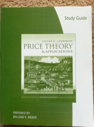 Study Guide for Price Theory and Applications