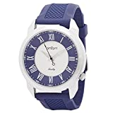 Am2pm Blue Silicon Strap Analogue Watches For Men - AP1010D