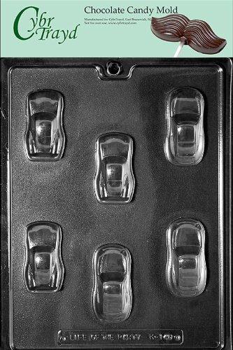 Cybrtrayd K140 Cool Cars Kids Chocolate Candy Mold front-940866
