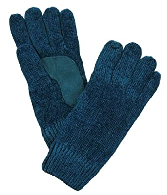Isotoner Women's Soft Thinsulate Lined Chenille Stretch Knit Gloves - Blue - One Size
