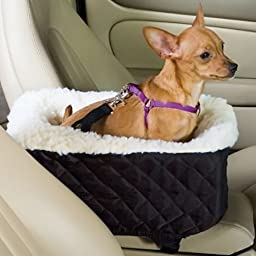 Snoozer Pet Dog Cat Outdoor Console Lookout Car Trunk Van UV BackSeat Safety Travel Cover Large Black Quilt