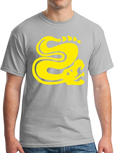 Mens Legends of the Hidden Temple T-Shirts Snake 90s Kids TV Global Guts XL Ice Grey ()