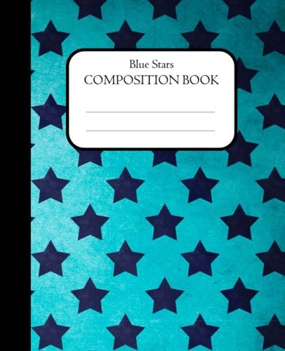 Blue Stars Composition Book: 100 pages, lined