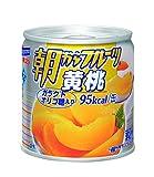はごろも 朝からフルーツ 黄桃 190g (4082)×4個