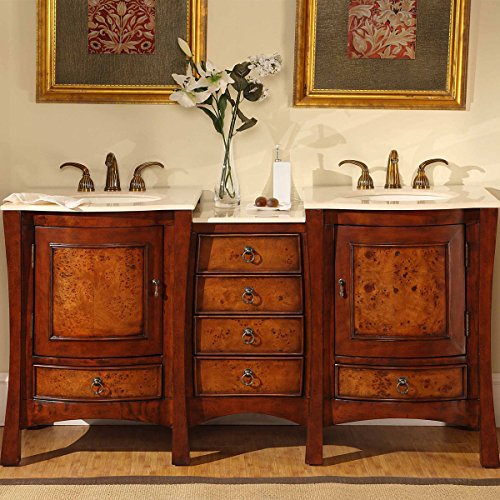 Silkroad-Exclusive-Double-Sink-Bowl-Bathroom-Vanity-with-Dual-Bath-Furniture-Cabinet-67-Inch