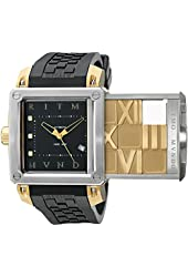 Ritmo Mundo Men's 501/5 SS YG Puzzle Slide Case Automatic Watch
