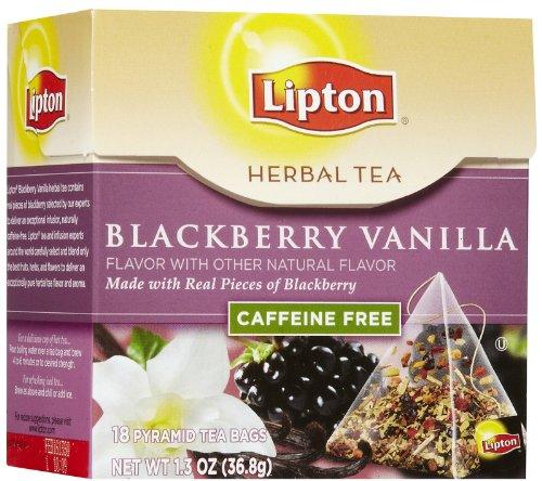 Lipton Herbal Pyramid Tea Bags, Blackberry Vanilla, 18 Ct