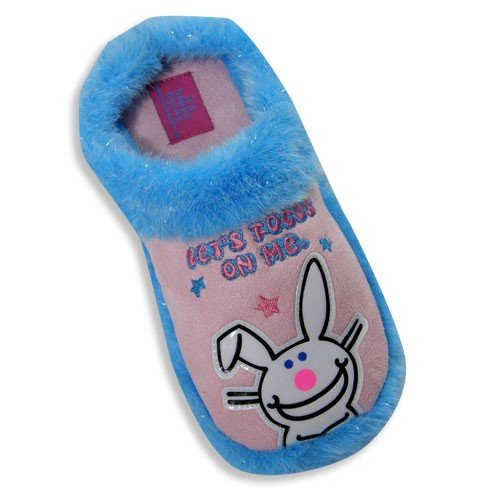Cheap Its Happy Bunny by Jim Benton – Ladies Happy Bunny Slipper, Pink, Turquoise 19120 (B002SCG6X8)