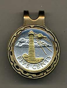 Gorgeous 2-Toned Gold on Silver Barbados Light house Coin - Golf Ball Marker - Hat... by J&J Coin Jewelry