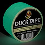 Duck Brand 281261 Glow in the Dark Duct Tape, 1.88-Inch by 10 Feet, Case of 6 Rolls