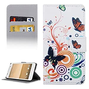 Crazy4Gadget Butterflies Love Flowers Patterns Horizontal Flip Leather Case with Holder & Card Slots & Wallet for HTC One A9