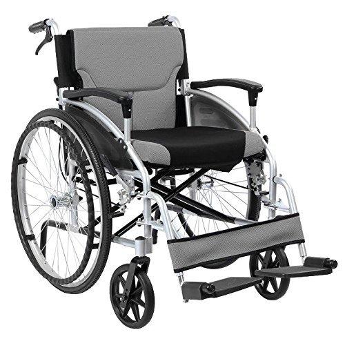 Pieghevole Alluminio Semovente Sedia a rotelle con Di assistenza Freni a mano