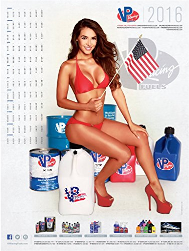 VP Racing Fuels Fuel 2016 18x24 Inch Pin-Up Poster for your Shop Store Drag Race Track Trailer for Auto Bike Mechanic Calendar Poster Hot Pinup Bikini Pic Anna Valencia Univision Telemundo Nuestra Bella Latina Model (Mechanic Pics compare prices)