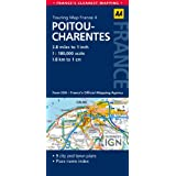 AA Road Map Pitou-Charentes (AA Touring Map France 04) (Road Map France)