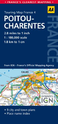 4. Pitou-Charentes: AA Road Map France (Aa Road Map France 04)