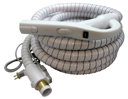 White Central Vacuum Cleaner Genuine Style Replacement Hose Designed to Fit Aerus Electrolux 1580, 1590, Lux Centralux Complete with Direct Connect and Pigtail Cord White (Central Vacuum Hose With Pigtail compare prices)