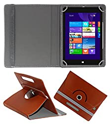 ACM ROTATING 360° LEATHER FLIP CASE FOR NOTION INK CAIN 8 TABLET STAND COVER HOLDER BROWN