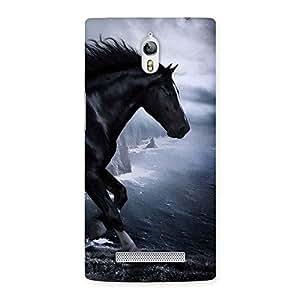 Premier Black Horse Back Case Cover for Oppo Find 7
