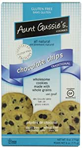 Aunt Gussie's Gluten Free Chocolate Chip Cookies, 6-Ounce Boxes (Pack of 4)