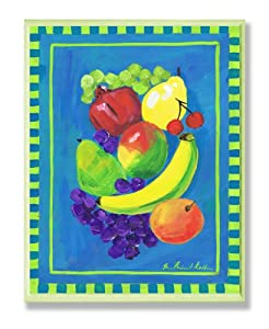 Stupell Home Pomegranate Fruit Blue and Green Kitchen Wall Plaque