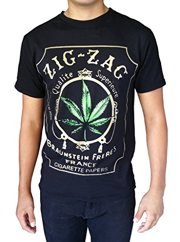 Gs-eagle-Mens-Printed-Weed-Marijuana-Cigarette-Graphic-Design-T-Shirts