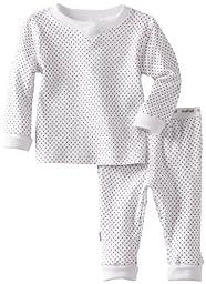 Kushies Unisexbaby Newborn Everyday Mocha Layette 2 Piece Set, White Dots, 9 Months