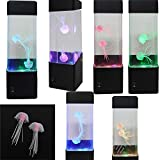 CALOVER Jellyfish Lamp electric jellyfish tank Aquarium -color Changing mood lamp for home decoration magic lamp for gift