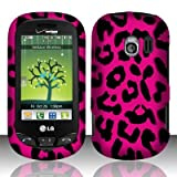 LG Extravert(Verizon) vn271 Accessory - Hot Pink Leopard Spot Skin Design Case Protective Cover