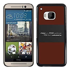 Omega Covers - Snap on Hard Back Case Cover Shell FOR HTC ONE ( M9 ) - Understand Me Deep Message