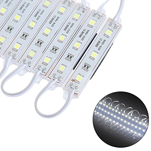 RGBZONE 200pcs 3-LED 5050 SMD LED Module Cold White Waterproof Channel Letter High Brightness Advertising Lamp (Led Channel Letter Module compare prices)