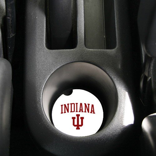 Ncaa Indiana Hoosiers Absorbent Car Coaster -Pack Of 2