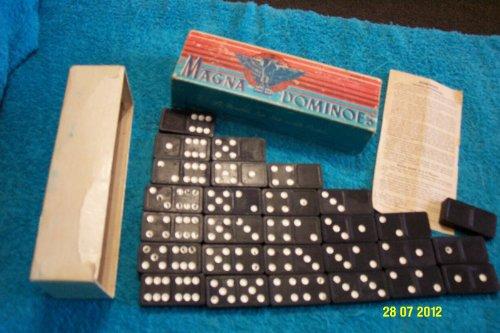 Vintage Magna Dominoes Double Six Set - 1