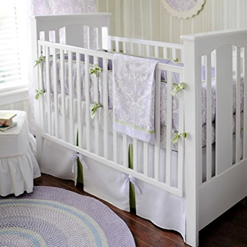 New Arrivals 2 Piece Crib Set, Lavender/Green