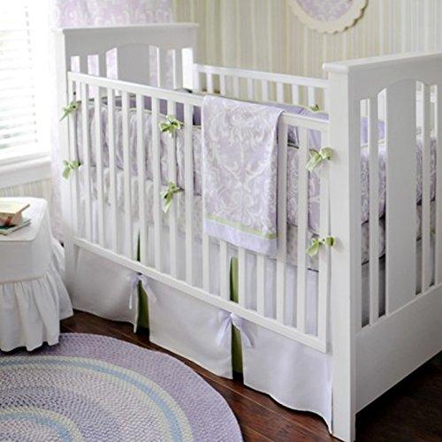 New Arrivals 2 Piece Crib Set, Lavender/Green