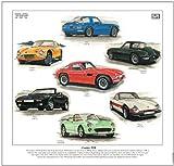 Classic TVR Fine Art Print --- Chimaera, Griffith, Vixen, Taimar, 2500M & Grantura. Ready to frame.