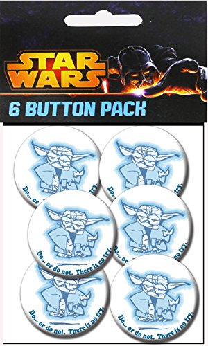 "C&D Visionary Star Wars Do or Do Not On White 1.25"" Button (6-Piece)"