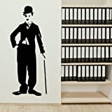 Charlie Chaplin Celebrity Wall Sticker / Big Wall Art / Celeb Wall Transfer BN42