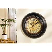 Antique Reproduction Metal and Glass Wall Clock - Battery Operated Product SKU: HD221056