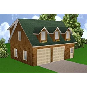 24x32 Garage Apartment Plans Package Blueprints