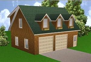 Amazon.com: 24x32 Garage Apartment Plans Package, Blueprints ...