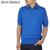 (ジョンスメドレー) John Smedley MILO コットンポロシャツ [PEACOCK BLUE]