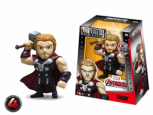 "NEW JADA AVENGERS: AGE OF ULTRON (2016) MOVIE - 4"" Metal DieCast (Die-Cast) THOR Action Figures By Jada Toys"