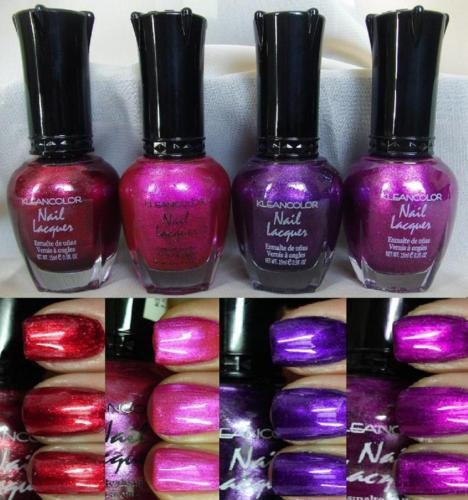 4-new-kleancolor-metallics-nail-polish-lacquer-full-sz-15ml
