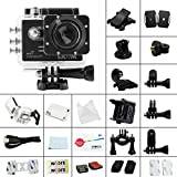 SJCAM SJ5000 Plus Ambarella A7LS75 1080P 60FPS WiFi cámara del coche de HD Action Sports Waterproof Cam DV Camcorder deportiva action impermeable cámara d(Negro)