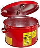 Justrite 27601 Steel Dip Tank, 1 Gallon Capacity, Red